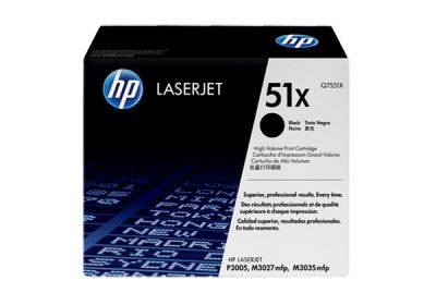 Hp Q7551X Black  Laser Toner  51X