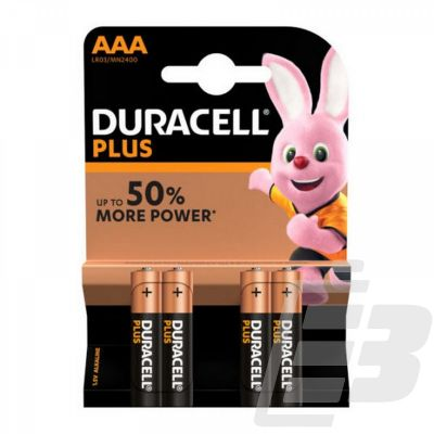 DURACELL AAA 4-PACK PLUS POWER (ΣΥΣΚΕΥΑΣΙΑ 4 ΤΕΜΑΧΙΩΝ