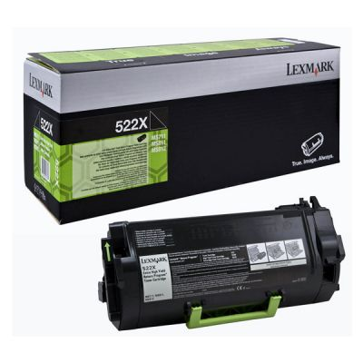 Lexmark 52D2X00 Black  Laser Toner  522X