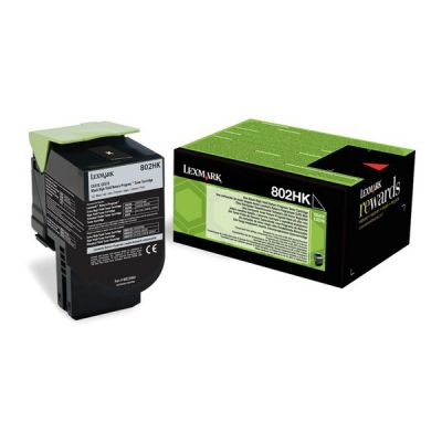 Lexmark 80C2HK0 Black  Laser Toner  802HK