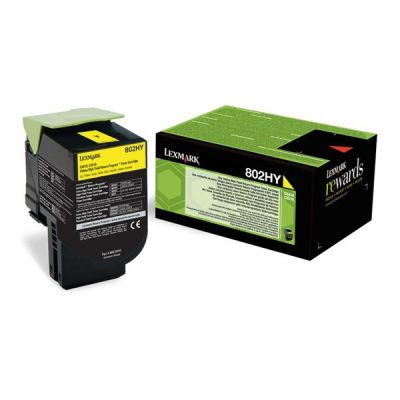 Lexmark 80C2HY0 Yellow Laser Toner  802HY