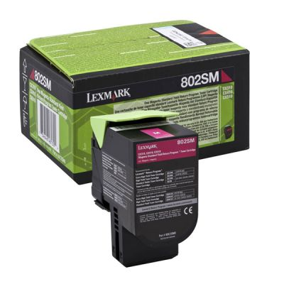 Lexmark 80C2SC0 Cyan Laser Toner  802SC