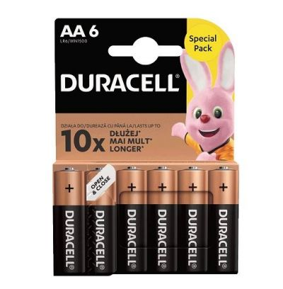 DURACELL AA 6-PACK (ΣΥΣΚΕΥΑΣΙΑ 6 ΤΕΜΑΧΙΩΝ, 0.50 TO TEMAXIO)