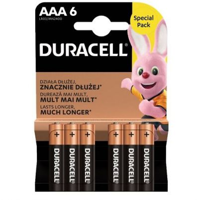 DURACELL AAA 6-PACK (ΣΥΣΚΕΥΑΣΙΑ 6 ΤΕΜΑΧΙΩΝ, 0.50 TO TEMAXIO)