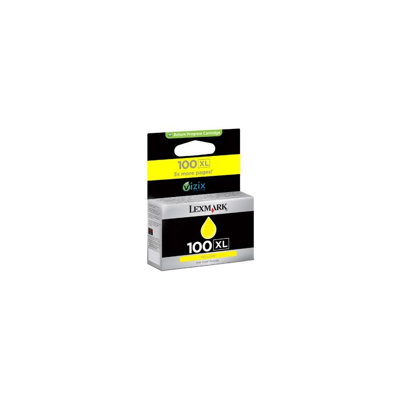 Lexmark 14N1071E Yellow Inkjet Cartridge (600 σελίδες) 100XL
