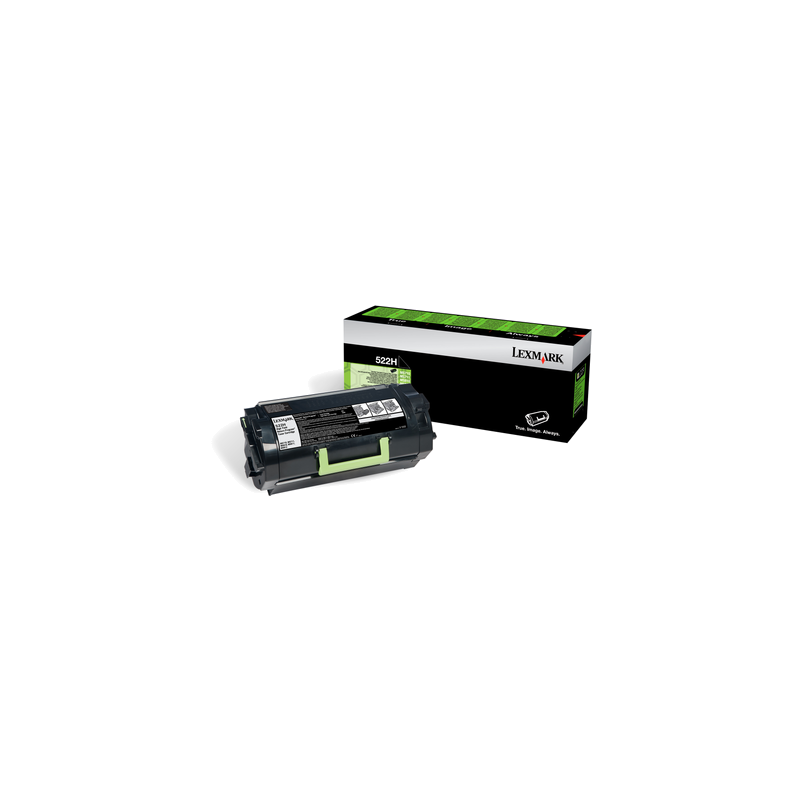 Lexmark 52D2H00 Black  Laser Toner  522H