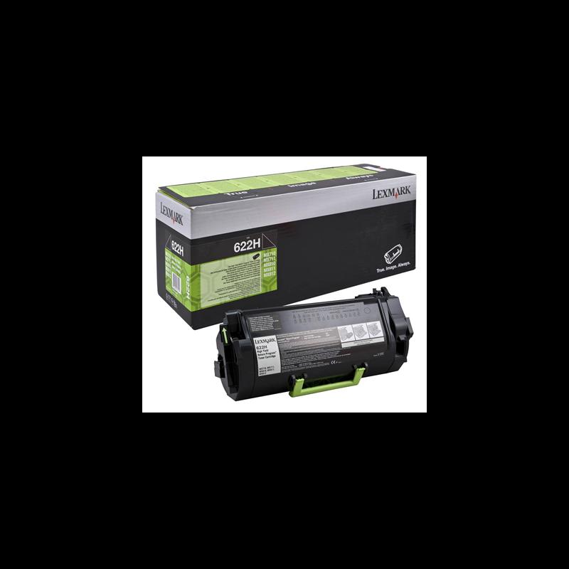 Lexmark 62D2H00 Black  Laser Toner  622H