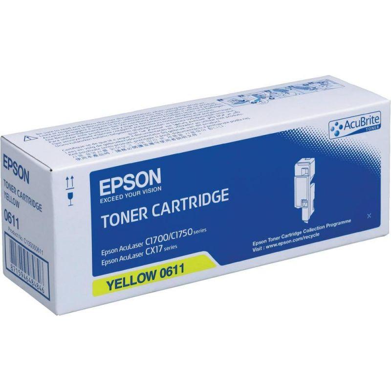 Epson C13S050611 Yellow Laser Toner (1400 σελίδες) C1700Y