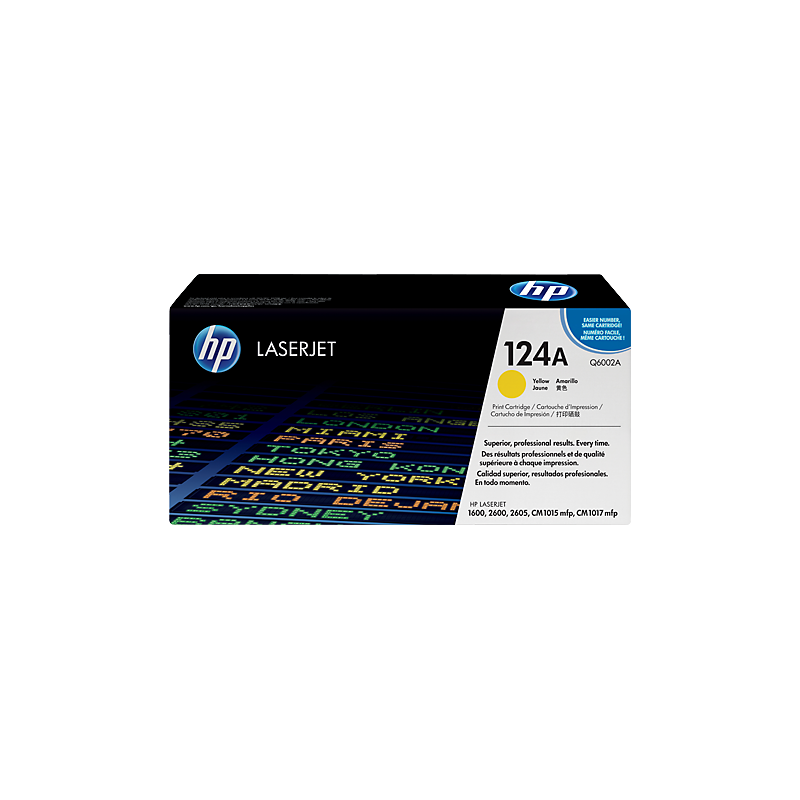 Hp Q6002A Yellow Laser Toner  124A