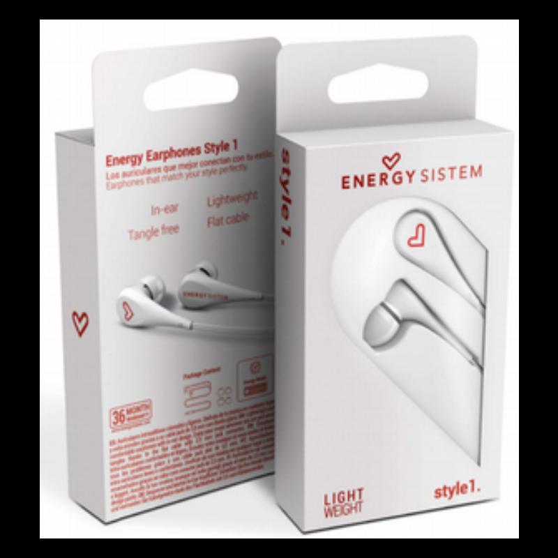 Energy Sistem ενδώτια ελαφριά ακουστικά χωρίς μικρόφωνο  White