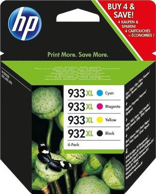 HP 932XL/933XL Cyan/Magenta/Yellow/Black Combo Pack (C2P42AE)